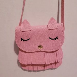 NWT, Pink Little Girls Kitty Purse